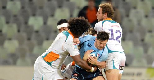 Adam Ashley Cooper met hard for Waratahs
