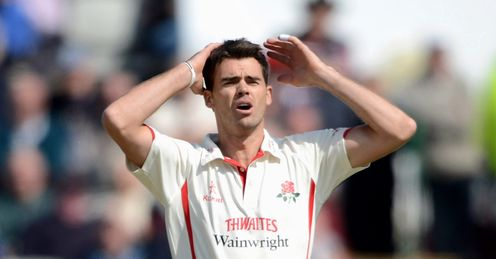James Anderson Lancashire v Nottinghamshire County Championship Wednesday 2 May Jimmy