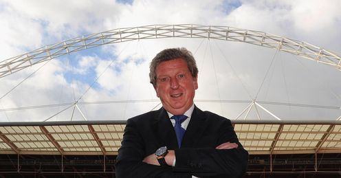 Roy Hodgson England press FA Wembley stadium shot
