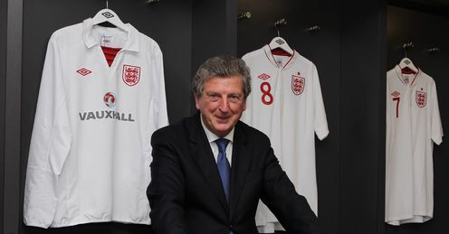 Roy Hodgson dressing room shirts England press FA Wembley