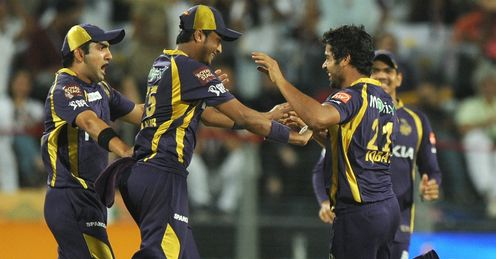 Kolkata Knight Riders celebrate reaching IPL final beating Delhi Daredevils