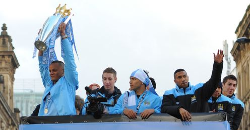 Champions: City won the Premier League title after a crazy final day