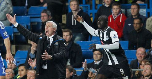 In Toon: Pardew and Cisse proved too hot for Chelsea to handle