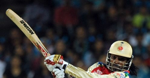 Chris Gayle Royal Challengers Bangalore v Pune Warriors IPL Subroto Roy Sahara Stadium Pune