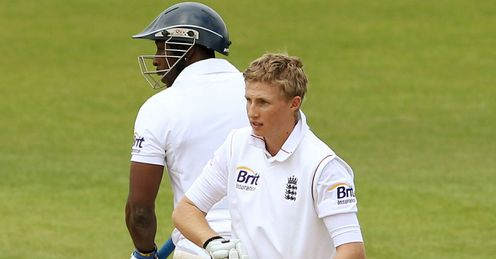Joe Root England Lions celebrating century against West Indies
