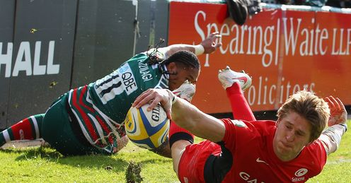 david strettle manu tuilagi leicester v saracens premiership semi-final gallery