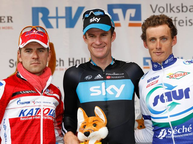 Rogers: Powered to his first win for Team Sky