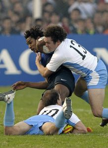 Benjamin Fall in action for France in Argentina