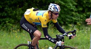 Race leader Bradley Wiggins was defending an advantage of 38 seconds