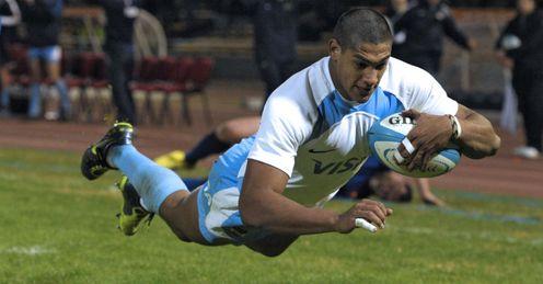 Manuel Montero try Argentina v France 2012