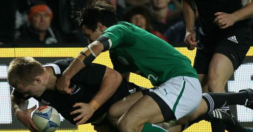 Sam Cane try All Blacks v Ireland 2012