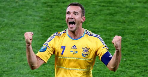 Andriy Shevchenko Celebrates Ukraine vs Sweden Olympic Stadium