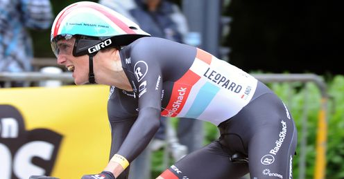 Schleck: the Luxembourger has toiled at the Crit�rium du Dauphin�