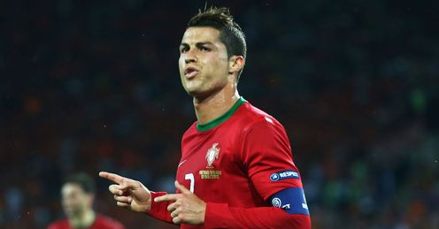 Cristiano Ronaldo Celebration Portugal vs Holland Metalist Stadium