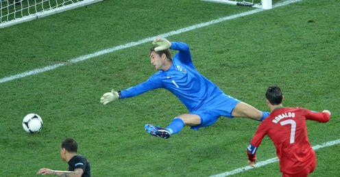 Cristiano Ronaldo Second Goal Portugal vs Holland Metalist Stadium