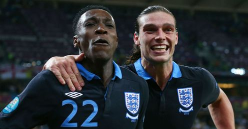 Welbeck and Carroll: both strikers found the net against Sweden