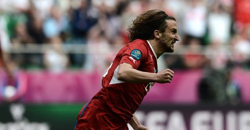 Euro 2012 Greece Czech Republic Petr Jiracek scores