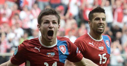 Euro 2012 Greece Czech Republic Vaclav Pilar goal