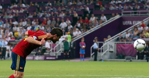 Euro 2012 Spain France Xabi Alonso goal