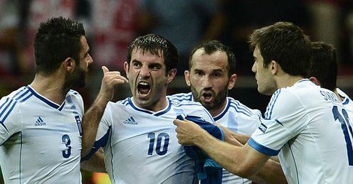 Giorgos Karagounis Greece Russia Euro 2012 Group A