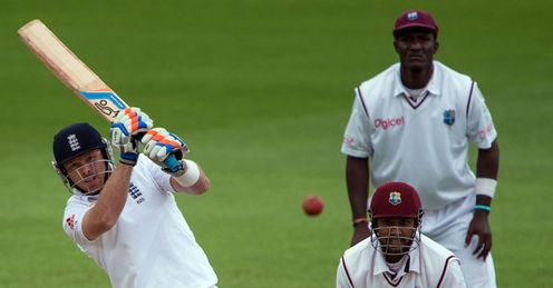 In nick: Bell struck an unbeaten 76 in the rain-ruined third Test against the West Indies