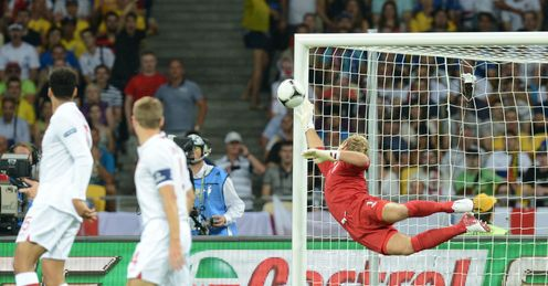 Joe Hart England vs Italy Olympic Stadium Kiev