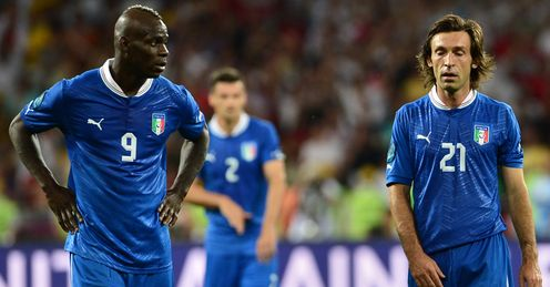 Balotelli & Pirlo: likely to be key to Italy's hopes on Sunday