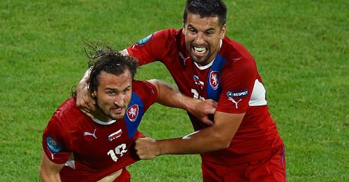 Petr Jiracek Czech Republic Poland Euro 2012 Group A