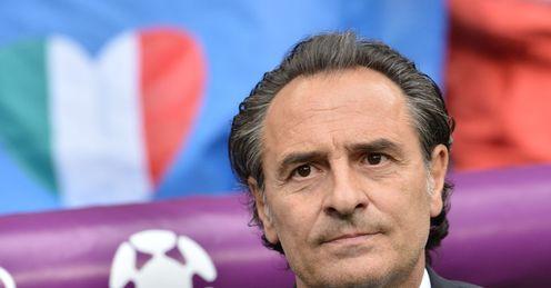 Cesare Prandelli Italy v Croatia Euro 2012