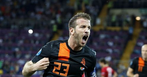 Rafael van der Vaart Celebration Portugal vs Holland Metalist Stadium