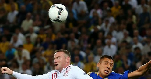 Wayne Rooney Yevhen Khacheridi England v Ukraine