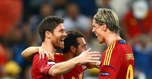 Artists: Spain have impressed US viewers with their Euro 2012 displays
