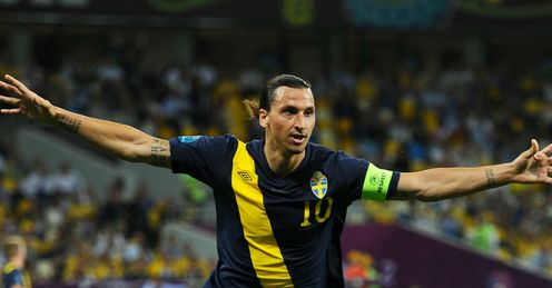 Zlatan Ibrahimovic Celebrates Ukraine vs Sweden Olympic Stadium