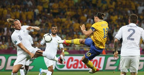 Zlatan Ibrahimovic volleyed goal for Sweden v France