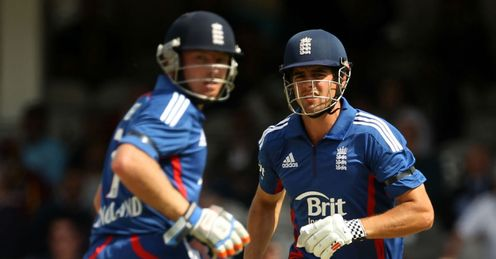 Ian Bell Alastair Cook England batting during the second match of the NatWest Series against West Indies The Kia Oval