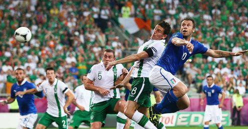Antonio Cassano - scores for Italy v Ireland - 18/6/12