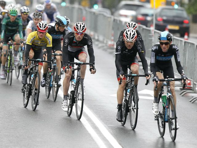 Heavy rain fell throughout the final stage of the race, which finished in the capital city of Luxembourg.