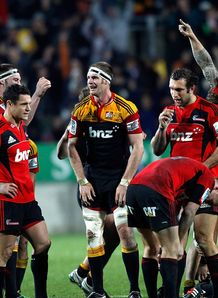 Chiefs celebrate v Crusaders