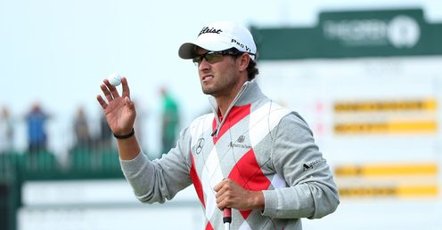 Setting the pace: Adam Scott