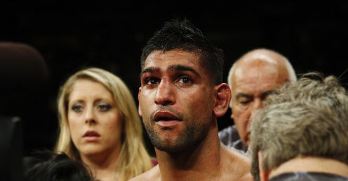 Khan: suffered a devastating loss to Garcia back in May