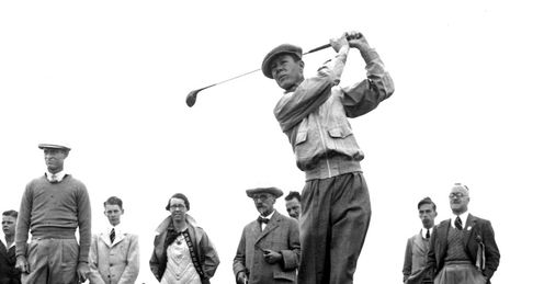 Byron Nelson in action in the 1937 Ryder Cup at Royal Birkdale