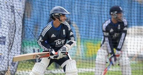 Best foot forward: Taylor prepares alongside Prior in the nets at Headingley
