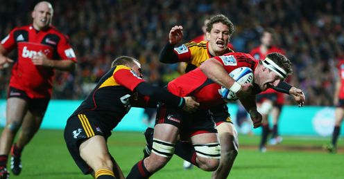 Kieran Read try Crusaders v Chiefs