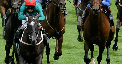 Darren Egan rides Landaman at Goodwood racecourse in July