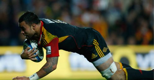 Liam Messam scores try Chiefs v Crusaders Super Rugby semi-final
