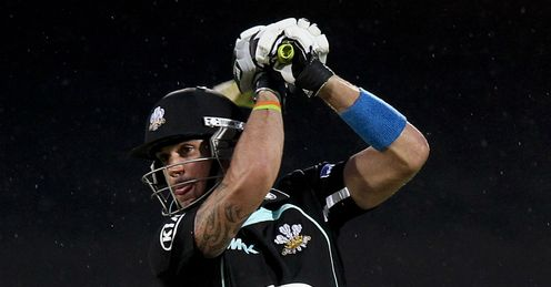 Kevin Pietersen Surrey v Hampshire Friends Life t20 Oval