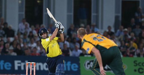 Neil McKenzie Hampshire v Nottinghamshire Friends Life t20 quarter-final Trent Bridge