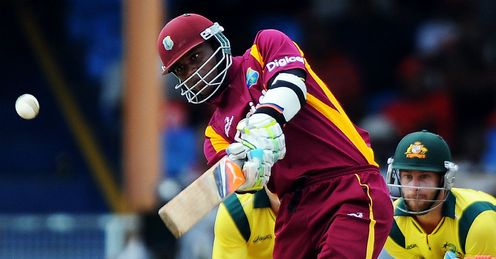 Marlon Samuels West Indies batting against Australia