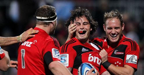 zac guildford crusaders celebrate