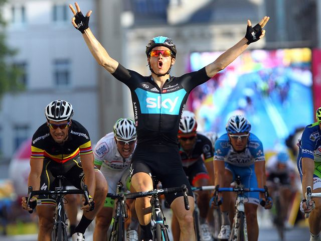 Swift: Sprinted to victory on stage two of the Tour de Pologne